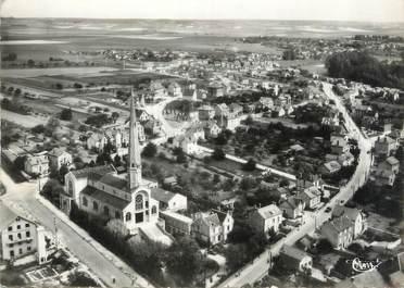 """/ CPSM FRANCE 89 """"Migennes, vue aérienne sur l'église"""""""