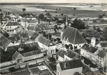 """/ CPSM FRANCE 89 """"Montacher, vue aérienne sur l'église"""""""