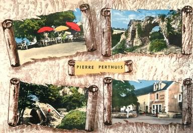 """/ CPSM FRANCE 89 """"Pierre Perthuis, hôtel restaurant des deux ponts"""""""