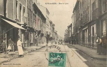 """.CPA  FRANCE 42 """"Rive de Gier, Rue de Lyon """""""