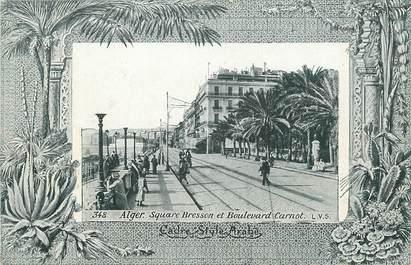 "CPA ALGERIE ""Alger, square Bresson et Bld Carnot"" / AQUA PHOTO"