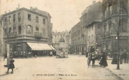 """.CPA  FRANCE 42 """"Rive de Gier, Place de la Boirie """""""