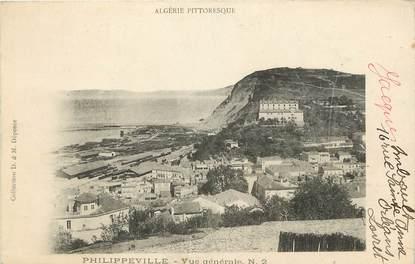 """CPA ALGERIE """"Philippeville, vue générale, l'Algérie pittoresque"""""""