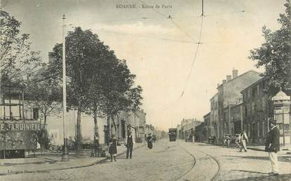 ".CPA  FRANCE 42 ""Roanne, Route de Paris"""