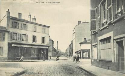""".CPA  FRANCE 42 """"Roanne,  Rue Gambetta"""""""