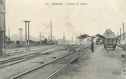 """.CPA  FRANCE 42 """"Roanne,  Intérieur de la gare""""/ GARE"""