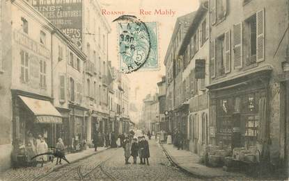 """.CPA  FRANCE 42 """"Roanne,  Rue Mably"""""""