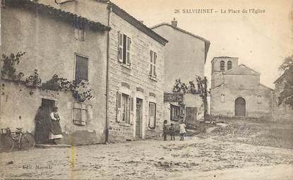 """.CPA  FRANCE 42 """" Salvizinet, La Place et l'Eglise"""""""