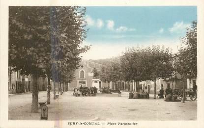""".CPA  FRANCE 42 """" Sury le Comtal, Place Parmentier"""""""