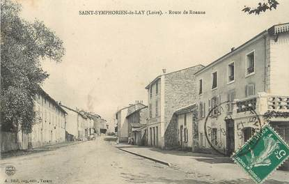 """.CPA  FRANCE 42 """" Saint Symphorien de Lay, Route de Roanne"""""""