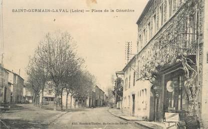 """.CPA  FRANCE 42 """" Saint Germain Laval, Place de la Génétine"""""""