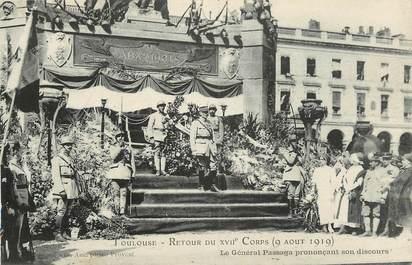 """CPA FRANCE 31 """"Toulouse, retour du XVII è Corps,  9 août 1919"""""""
