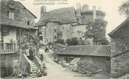 """.CPA  FRANCE 42 """" Saint André d'Apchon, Le château"""""""