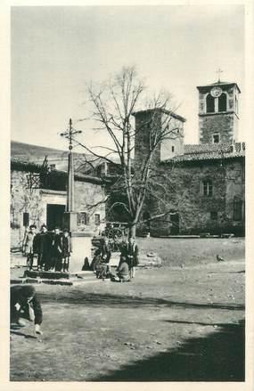 """.CPA  FRANCE 42 """" Sainte Croix en Jarez, Tour de l'horloge et clocher"""""""