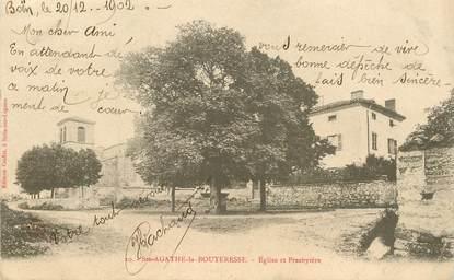 """.CPA  FRANCE 42 """" Sainte Agathe la Bouteresse, Eglise et presbytère"""""""