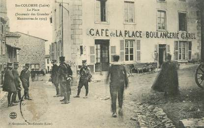 ".CPA  FRANCE 42 "" Sainte Colombe, La place"""
