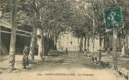 """.CPA  FRANCE 42 """" Saint Sauveur en Rue, Les promenades"""""""