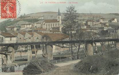 ".CPA  FRANCE 42 "" St Victor sur Rhins, Les usines"""