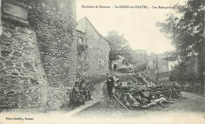 """.CPA  FRANCE 42 """" St Haon le Chatel, Les remparts"""""""