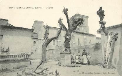 ".CPA  FRANCE 42 "" St Haon le Chatel, l'Eglise"""