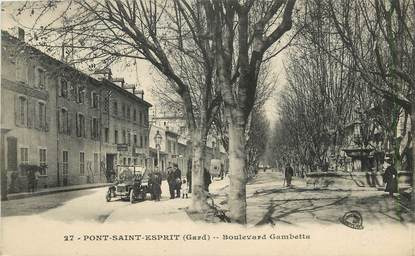 "CPA FRANCE 33 ""Pont Saint Esprit, bld Gambetta"""