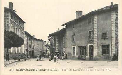".CPA FRANCE 42 ""St Martin Lestra, Route de Lyon """
