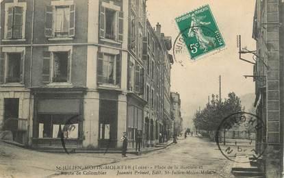 """.CPA FRANCE 42 """"St Julien Molin Molette, Place de la Bascule et Route de Colombier"""""""