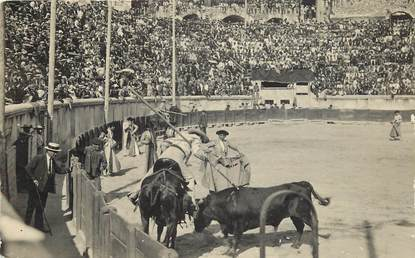 "CARTE PHOTO FRANCE 30 ""Corrida"" / TAUREAU"