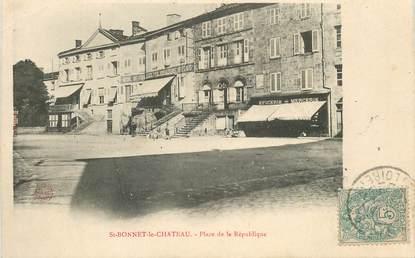 """.CPA FRANCE 42 """"St Bonnet le Château, Place de la République"""""""