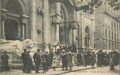 """.CPA FRANCE 42 """"St Chamond, Porche de l'Eglise Notre Dame"""""""