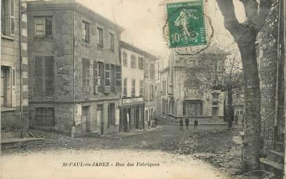 """.CPA FRANCE 42 """"St Paul en Jarez, Rue des Fabriques"""""""