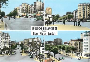 """/ CPSM FRANCE 92 """"Boulogne Billancourt, place Marcel Sembat"""""""