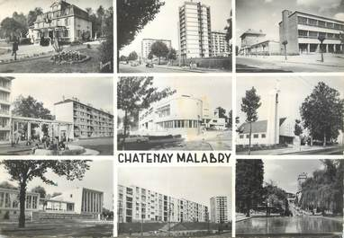 "/ CPSM FRANCE 92 ""Chatenay Malabry, divers acpects de la ville"""