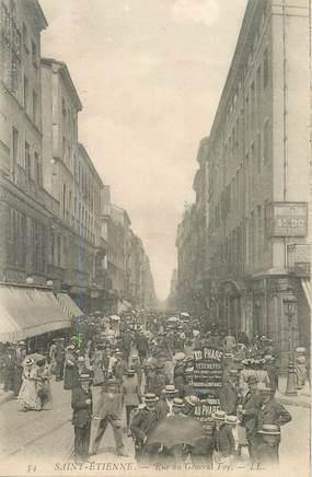 """.CPA FRANCE 42 """"St Etienne, Rue du Général Foy"""""""