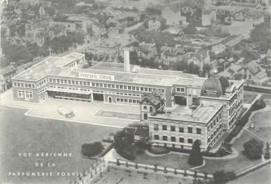 """CPSM FRANCE 92 """"Nanterre, vue aérienne de la parfumerie Forvil"""" PARFUM"""