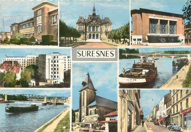 "/ CPSM FRANCE 92 ""Suresnes, divers aspects de la ville"""