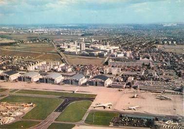 """/ CPSM FRANCE 93 """"Le Bourget et le Blanc Mesnil"""" / AEROPORT"""