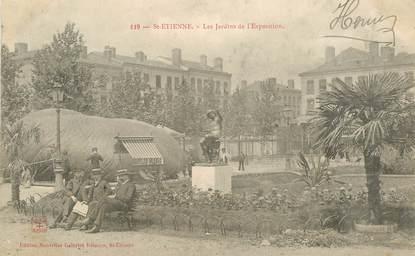 """.CPA  FRANCE 42 """"St Etienne, Les jardins de l'exposition"""""""