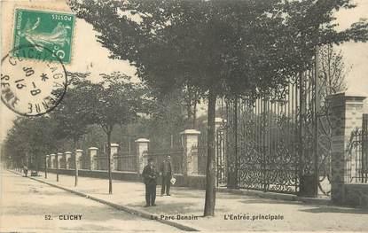 """CPA FRANCE 92 """"Clichy, le Parc Denain, l'entrée principale"""""""