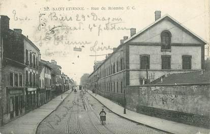 """.CPA  FRANCE 42 """"St Etienne, Rue de Roanne"""""""