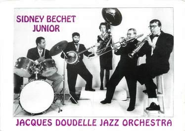 "/ CPSM FRANCE 93 ""Villepinte, Sidney Bechet Junior"" / ORCHESTRE"