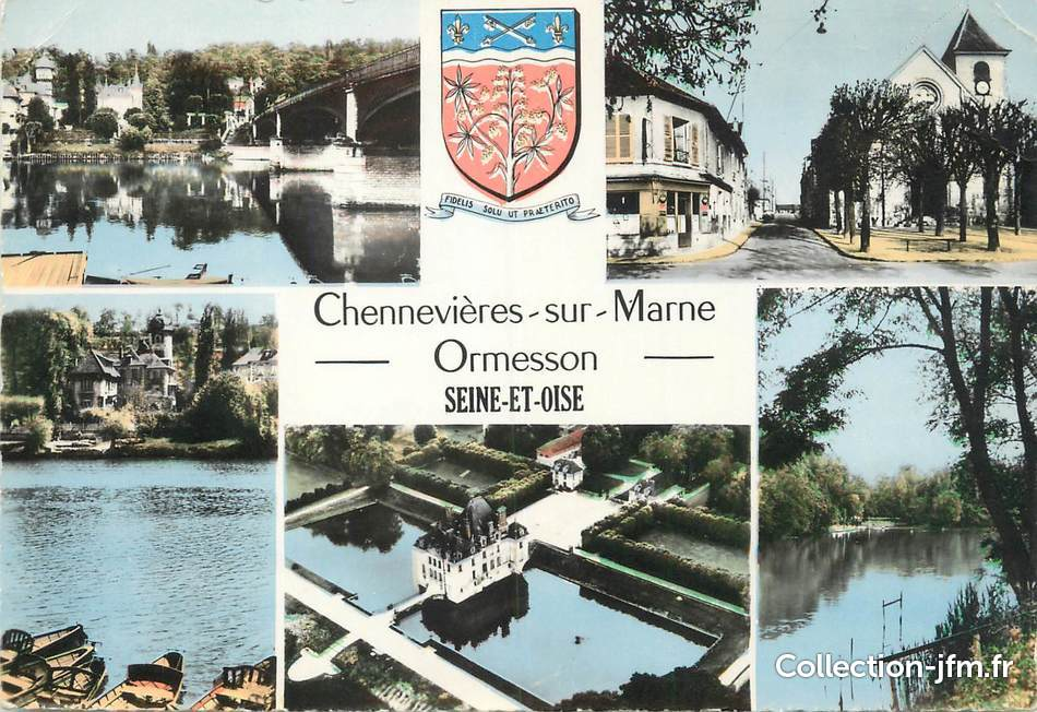 cpsm france 94 chennevi res sur marne ormesson 94 val de marne autres communes 94. Black Bedroom Furniture Sets. Home Design Ideas