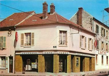 """/ CPSM FRANCE 95 """"Beaumont sur Oise, journaux, café, tabac, le diplomate"""""""