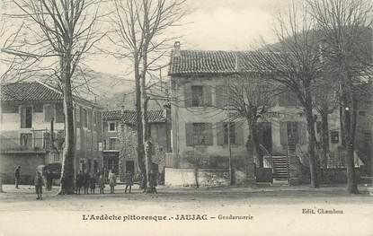 ".CPA FRANCE 07 ""Jaujac, La Gendarmerie"""