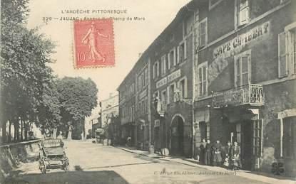 """.CPA FRANCE 07 """"Jaujac, avenue du Champ de Mars"""""""
