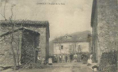 ".CPA FRANCE 07 ""Chirols, Avenue de la Cure"""