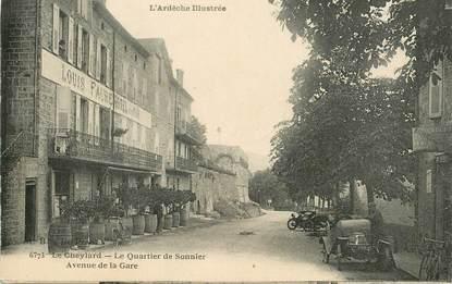 ".CPA FRANCE 07 ""Le Cheylard, Le quartier de Sonnier, Avenue de la Gare"""