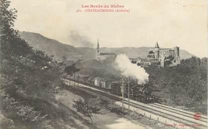 ".CPA FRANCE 07 ""Châteaubourg, Les bords du Rhône"""