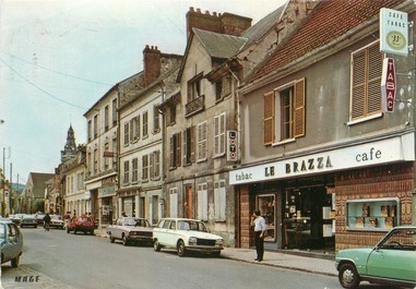 "/ CPA FRANCE 95 ""Viarmes, la rue de Paris"""