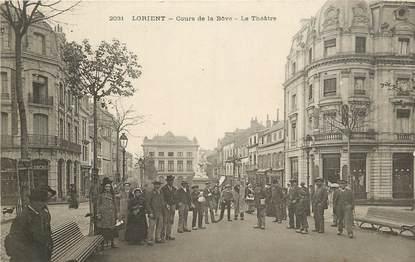 """CPA FRANCE 56 """"Lorient, cours de la Bôve, le Théâtre"""""""